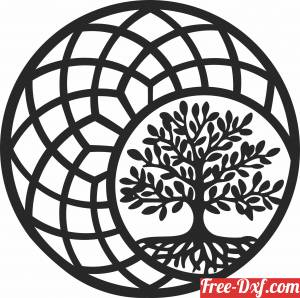 download tree of life ornament wall decor free ready for cut