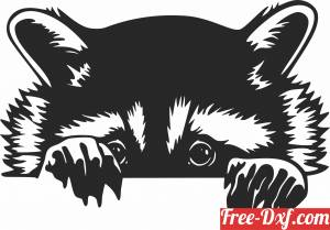 download Racoon wall decor free ready for cut