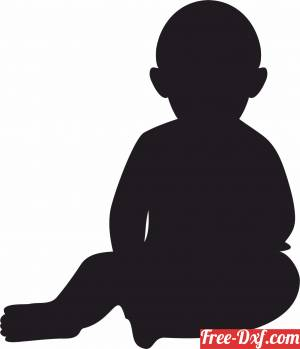 download baby silhouette free ready for cut