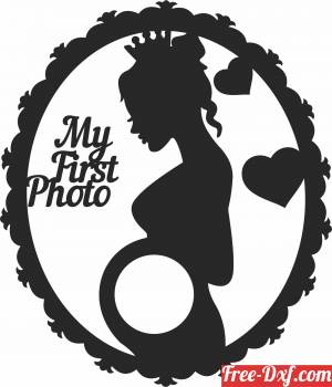 download pregnant woman wall decor free ready for cut