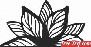 download Mandala flower wall art free ready for cut