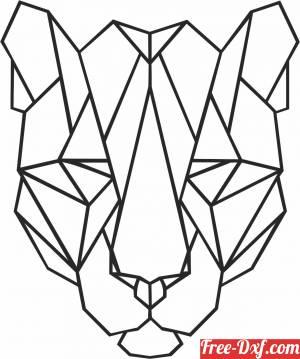download Geometric Polygon tiger free ready for cut