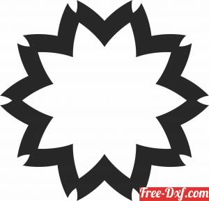 download Decorative dxf Element clipart free ready for cut