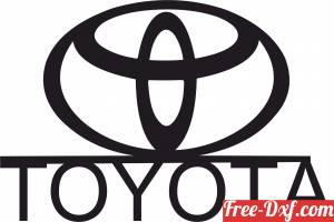 download Toyota Wall logo sign free ready for cut
