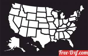 download US States Map free ready for cut