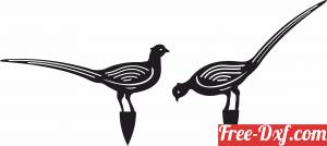 download peacock garden ornament free ready for cut