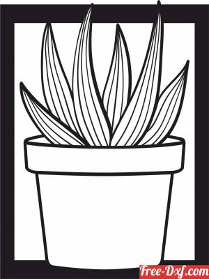 download Potted Plants Snake home decor free ready for cut