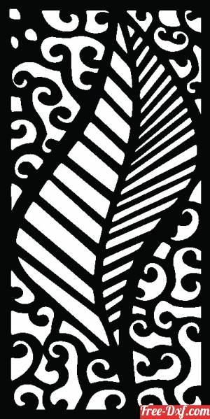 download decorative wall pattern panel with leaf free ready for cut