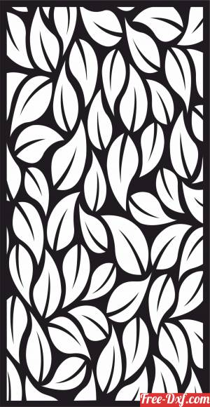download tree leaves decorative wall screen door partition panel pattern free ready for cut