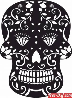 download decorative Sugar Skull free ready for cut