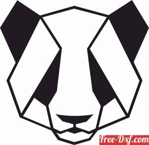 download Vector Geometric koala Bear wall decor free ready for cut