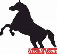 download Horse Rearing art free ready for cut