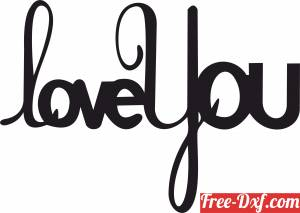 download love you wall sign clipart free ready for cut