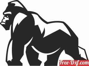download Gorilla wall decor free ready for cut