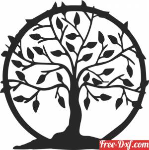 download tree of live wall decor sign free ready for cut