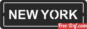 download new york wall plaque sign free ready for cut