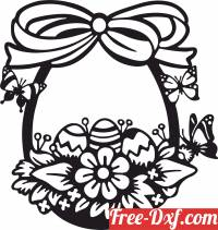 download happy easter egg butterfly design free ready for cut