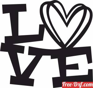 download Heart love gift for valentine free ready for cut