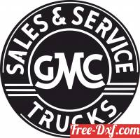 download GMC Trucks Sales and Service logo free ready for cut