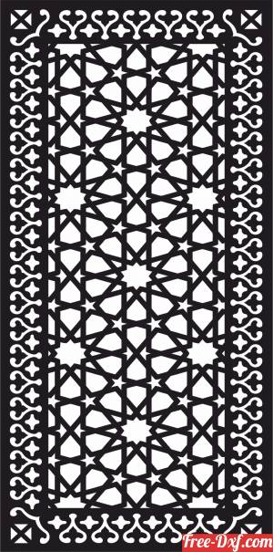 download decorative panel wall screen pattern Moroccan art free ready for cut