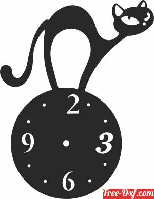 download cat wall vinyl clock free ready for cut