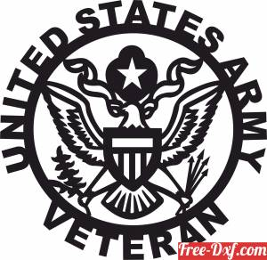 download United states veteran logo free ready for cut