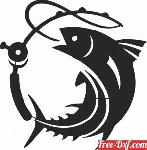 download Tuna Fish fishing scene clipart free ready for cut