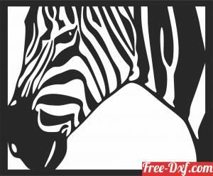 download zebra scene art wall decor free ready for cut