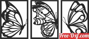 download Butterfly canvas wall decor free ready for cut