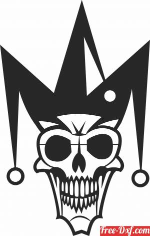 download Clown Skull cliparts free ready for cut
