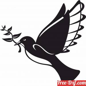 download Peace Bird wall decor Home Decoration free ready for cut
