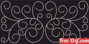 download decorative screen panel pattern free ready for cut