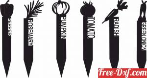 download Vegetable Garden Stakes free ready for cut