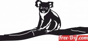 download koala on branch free ready for cut