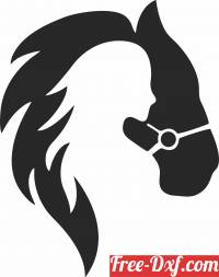 download Girl horse art decor free ready for cut