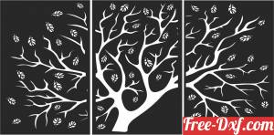 download Tree panels wall decor art decor free ready for cut
