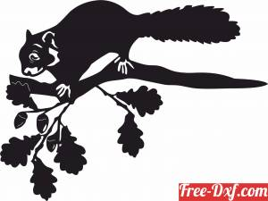 download Squirrel Tree Stake Yard Decor free ready for cut