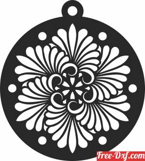 download Christmas  ornaments decor tree free ready for cut