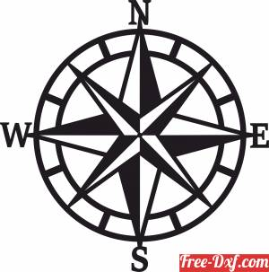 download nautical compass North Arrow free ready for cut