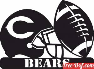 download Chicago Bears NFL helmet LOGO free ready for cut