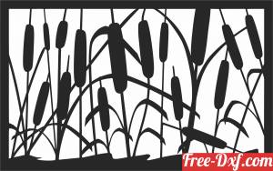 download Nature flower scene wall decor free ready for cut