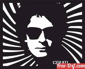 download Gustavo Cerati Wall Art free ready for cut