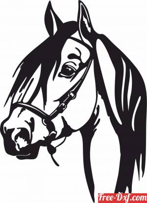 download Horse face scene clipart free ready for cut