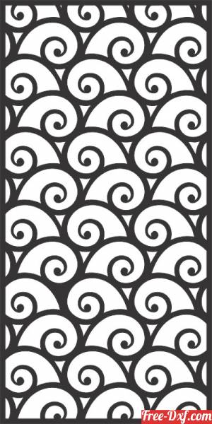download decorative pattern wall screen panel free ready for cut