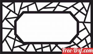 download decorative frame screen pattern partition free ready for cut