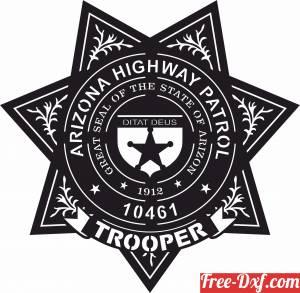 download Arizona Highway Patrol Trooper Badge vector free ready for cut