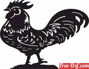 download Rooster Hen Chicken Garden Farm decoration free ready for cut