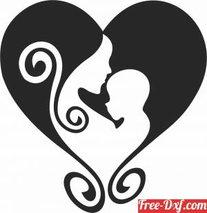 download mother love heart sign free ready for cut