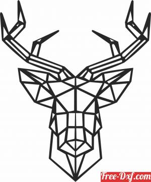 download Geometric Polygon elk deer free ready for cut