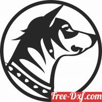 download dog Wall vinyl Clock free ready for cut